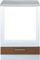 Шкаф под духовку Интерлиния Мила Gloss НШ60д (шоколад) -