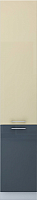 Шкаф-пенал кухонный Интерлиния Мила Gloss НШП-№2-2145 (ваниль/асфальт) -