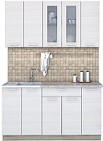 Готовая кухня Интерлиния Мила 15 (вудлайн кремовый) -