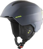 Шлем горнолыжный Alpina Sports 2020-21 Grand / A9226-31 (р-р 57-61, Charcoal/матовый неон) -