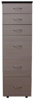 Комод Компас-мебель КС-008-04Д1 (венге темный/дуб молочный) -