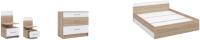 Комплект мебели для спальни Империал Алена (дуб сонома/белый) -