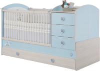 Детская кровать-трансформер Cilek Baby Boy / 20.43.1015.00 (с выдвижным спальным местом) -