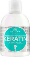 Шампунь для волос Kallos KJMN С кератином и экстракт молочн протеина д/сух поврежд волос (1л) -