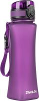 Бутылка для воды 21vek One Touch Matte / 6008 (500мл, фиолетовый) -