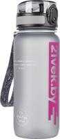 Бутылка для воды 21vek Colorful Frosted / 3037 (650мл, серый) -