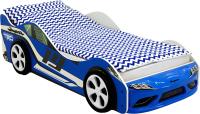 Стилизованная кровать детская Бельмарко Супра / 1251 (синий) -