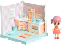 Комплект аксессуаров для кукольного домика Bondibon Кукольный уголок и куколка Oly. Кухня / ВВ4491 -