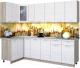 Готовая кухня Интерлиния Мила 12x25 (вудлайн кремовый) -