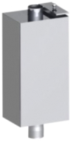Бак на трубе Везувий Прямоугольный 80л (диам. трубы 115 мм) -