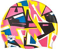 Шапочка для плавания ARENA Print Jr 94171 310 (Jumble/Yellow) -