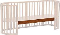 Опорная планка для кроватки Polini Kids Simple 910 (орех) -