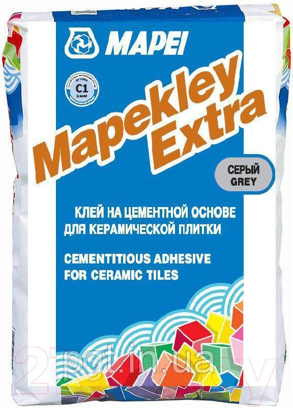 Купить Клей для плитки Mapei, Mapekley Extra (25кг, серый), Италия