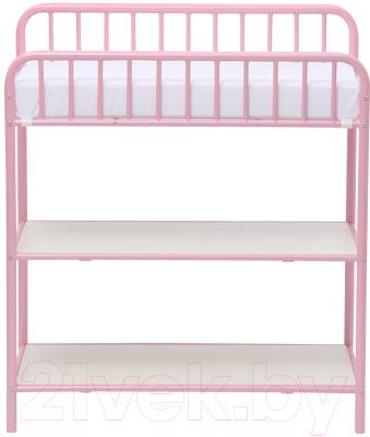 Столик пеленальный Polini Kids Vintage 1180 (розовый)
