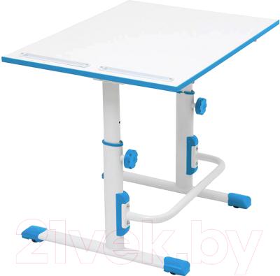 Парта Polini Kids Simple М1 (белый/синий)
