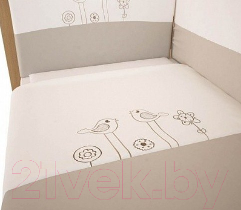 Купить Комплект в кроватку Polini Kids, Волшебная полянка 3 (140x70), Россия, хлопок, Волшебная полянка (Polini Kids)