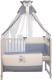 Комплект в кроватку Polini Kids Плюшевые мишки 7 (120x60, голубой) -