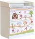 Комод пеленальный Polini Kids Simple Пряничный домик 1580 (белый) -