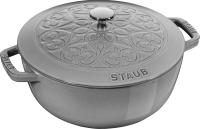 Кокотница Staub La Cocotte Лилия 11212418 (серый графит) -
