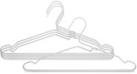 Набор вешалок-плечиков Brabantia 118661 (4шт, серебристый) -
