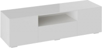 Тумба ТриЯ Glance ТВ тип 1 (белый/стекло белый глянец) -