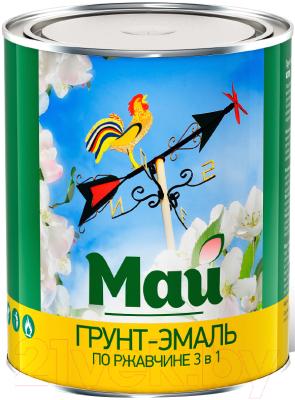 Эмаль Ярославские краски Май на ржавчину 3 в 1 (800г, красный)