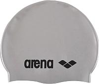 Шапочка для плавания ARENA Classic Silicone JR 91670 51 (Silver/Black) -