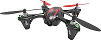 Квадрокоптер Hubsan H107C (черный/красный) -
