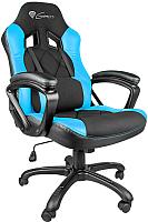Кресло геймерское GENESIS Nitro 330 NFG-0782 Gaming (черный/голубой) -
