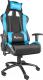 Кресло геймерское GENESIS Nitro 550 NFG-0783 Gaming (черный/голубой) -