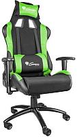Кресло геймерское GENESIS Nitro 550 NFG-0907 Gaming (черный/зеленый) -