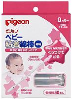 Ватные палочки Pigeon с липкой поверхностью / 10084/15117 (50шт) -