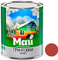 Грунтовка Ярославские краски Май универсальная ГФ-021 (0.9кг, красный/коричневый) -
