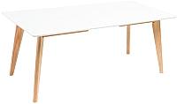 Обеденный стол Atreve Dante 140+2x40/90 (белый) -