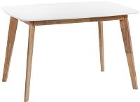 Обеденный стол Atreve Mirabella 120x80 (белый/дуб беленый) -