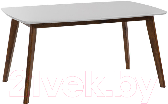 Купить Обеденный стол Atreve, Mirabella 150-195x90 (белый/орех), Польша
