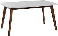 Обеденный стол Atreve Mirabella 150-195x90 (белый/орех) -