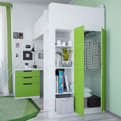Двери шкафа для кровати-чердака Polini Kids Simple (лайм)
