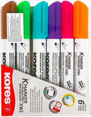 Набор маркеров Kores 20802 (6шт, ассорти)