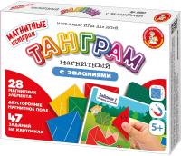 Игра-головоломка Десятое королевство Танграм магнитный с заданиями / 4053 -
