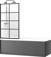 Стеклянная шторка для ванны REA Lagos-1 70 / K4569 -