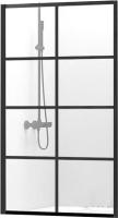 Стеклянная шторка для ванны REA Lagos-1 Fix 80 / REA-K4561 -