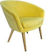 Кресло мягкое Lama мебель Тиана (Ultra Mustuard) -
