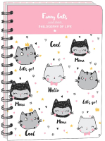Тетрадь InFolio Funny cats / N977 (96л, клетка) -