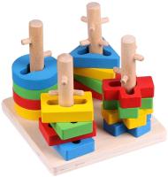 Развивающая игрушка Darvish Сортер. Геометрические фигурки / DV-T-1609 (дерево) -
