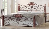 Двуспальная кровать Грифонсервис КД4-1 (коричневый/золото) -
