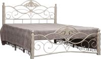 Двуспальная кровать Грифонсервис КД5-1 (белый/золото) -