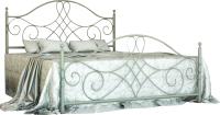 Двуспальная кровать Грифонсервис КД8-1 (белый/серебристый) -