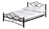 Двуспальная кровать Грифонсервис КД9-1 (черный/золото) -