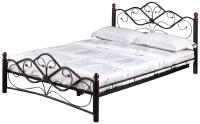 Полуторная кровать Грифонсервис КД9-2 (черный/золото) -